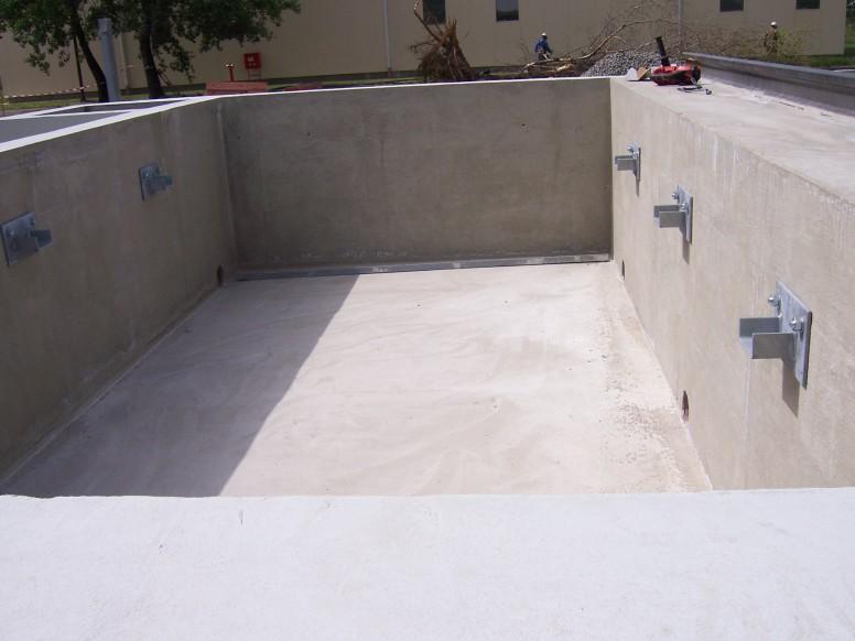 transzformátor alap oltóvíz medencével