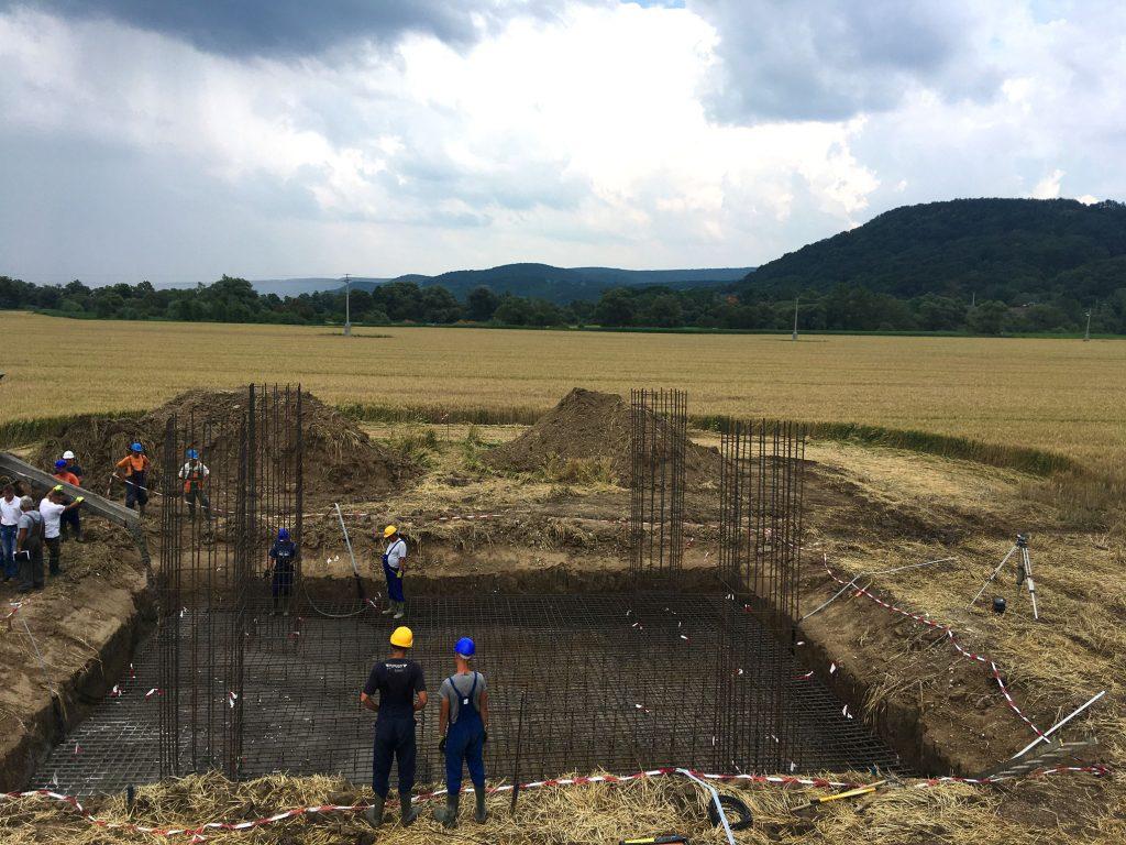 transzformátor alap építés
